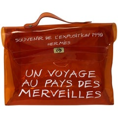 Hermes Vintage Kelly Souvenir De L'Exposition Transparent Bag