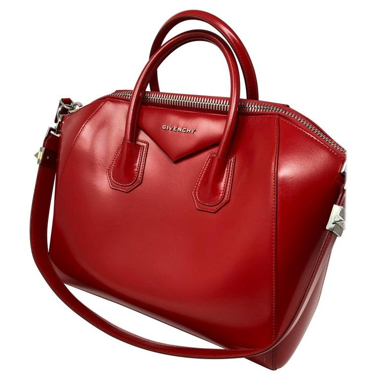 cd139a0d6c45 Givenchy Medium Red Antigona Bag For Sale at 1stdibs