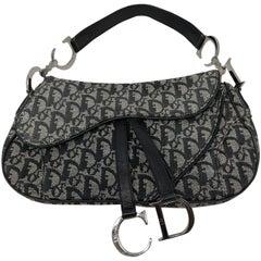 Christian Dior Saddle Blue Denim Shoulder Bag