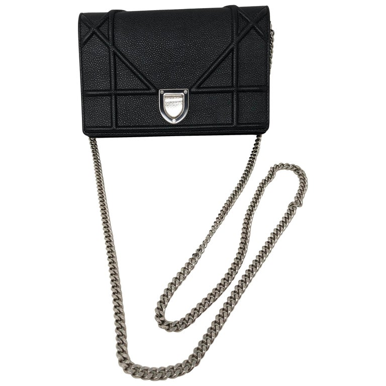 3cd0bf9c66 Christian Dior Diorama Black Mini Crossbody Bag at 1stdibs