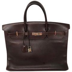 Hermes Rouge Palladium Hardware Birkin 40 Bag
