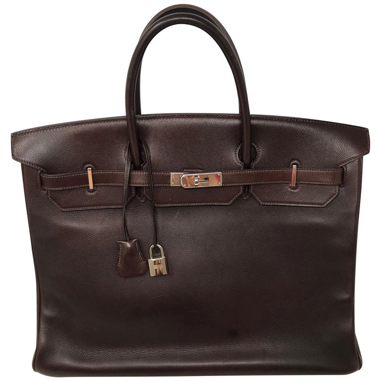 dea55988e0e2 Hermes Rouge Palladium Hardware Birkin 40 Bag For Sale at 1stdibs