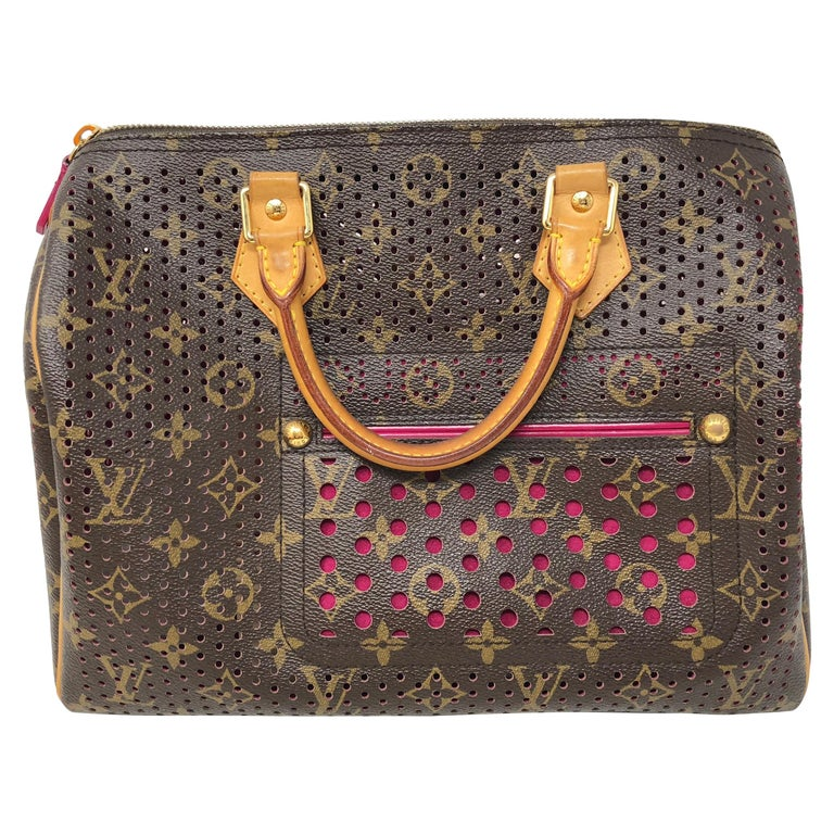 Louis Vuitton Limited Edition Perforated Fuchsia Speedy Bag