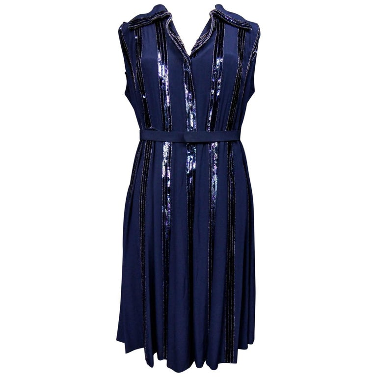 Worth Couture Dress, Circa 1960 For Sale
