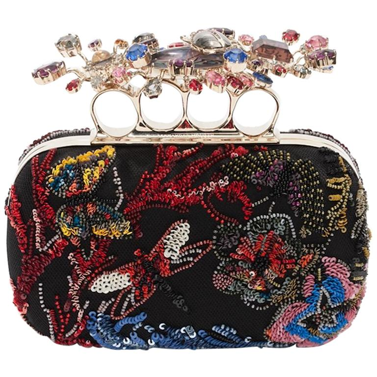 Alexander McQueen Beaded Embroidered Cutch