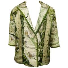 """Hermès """"Les joies de la montagne"""" Jacket Circa 1955"""
