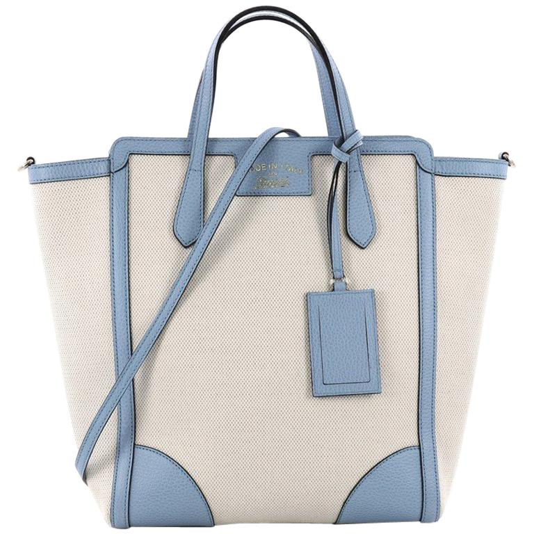 Gucci Swing Tote Canvas and Leather Tall