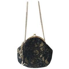 Versace Jeans Couture black lace purse. 1990's