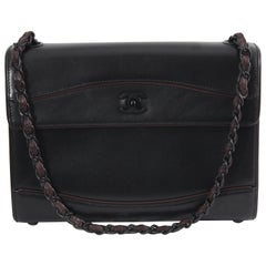 Chanel All Black Shoulder Bag