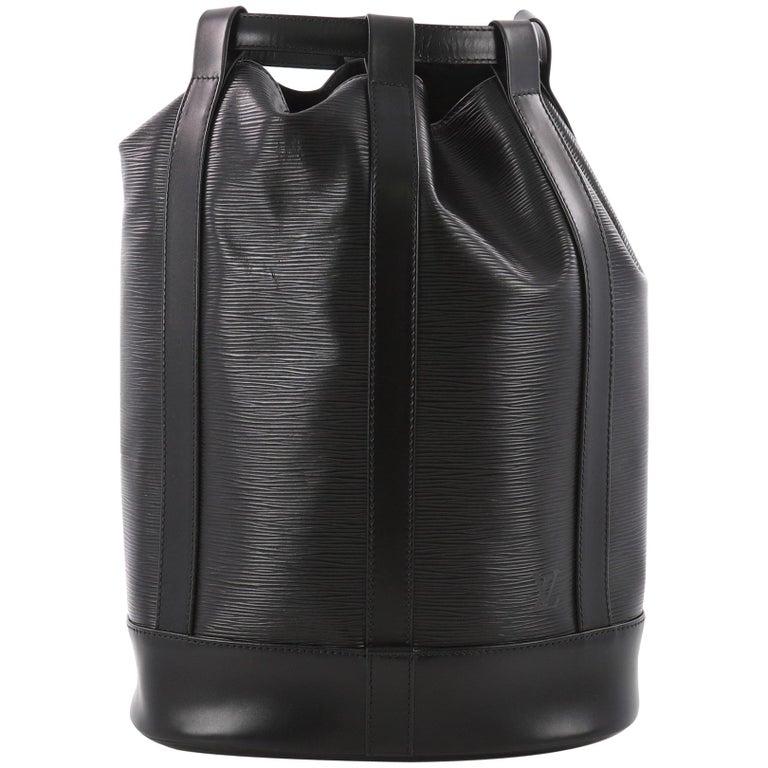 Louis Vuitton Randonnee Handbag Epi Leather GM