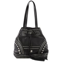 Prada Bucket Bag Studded Soft Calfskin Large