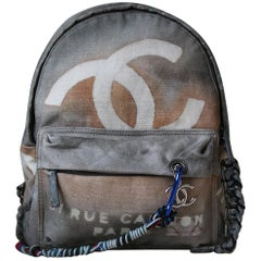 Chanel Canvas Graffiti Backpack