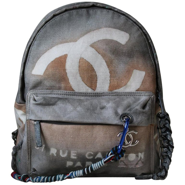 611c9fbcdce0 Chanel Canvas Graffiti Backpack at 1stdibs