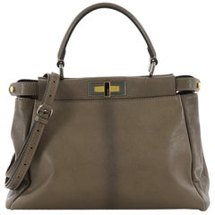 Fendi Peekaboo Handbag Leather Regular