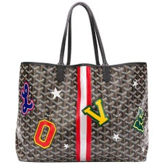 Goyard Customized Black 'Varsity Letter Love' Monogram St Louis PM Bag