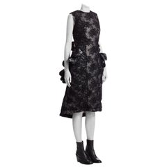 Comme des Garcon Padded Black Lace / Tulips Raw Edge Future of Silhouette Dress