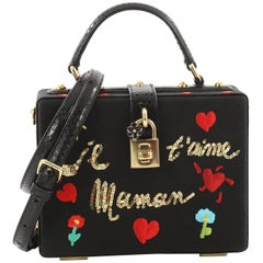 Dolce & Gabbana Treasure Box Bag Embroidered Grosgrain Small