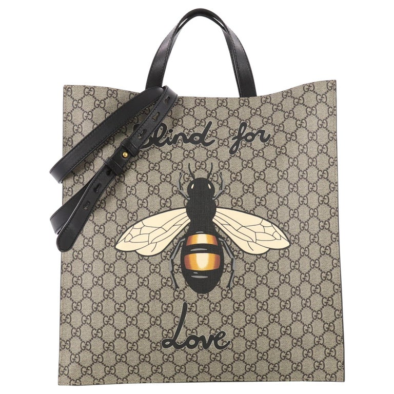 Gucci Convertible Soft Open Tote Printed GG Coated Canvas Tall
