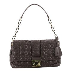 Christian Dior New Lock Flap Bag Cannage Quilt Lambskin Small