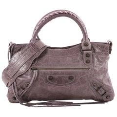 28aa1da97bcb Balenciaga First Classic Studs Handbag Leather