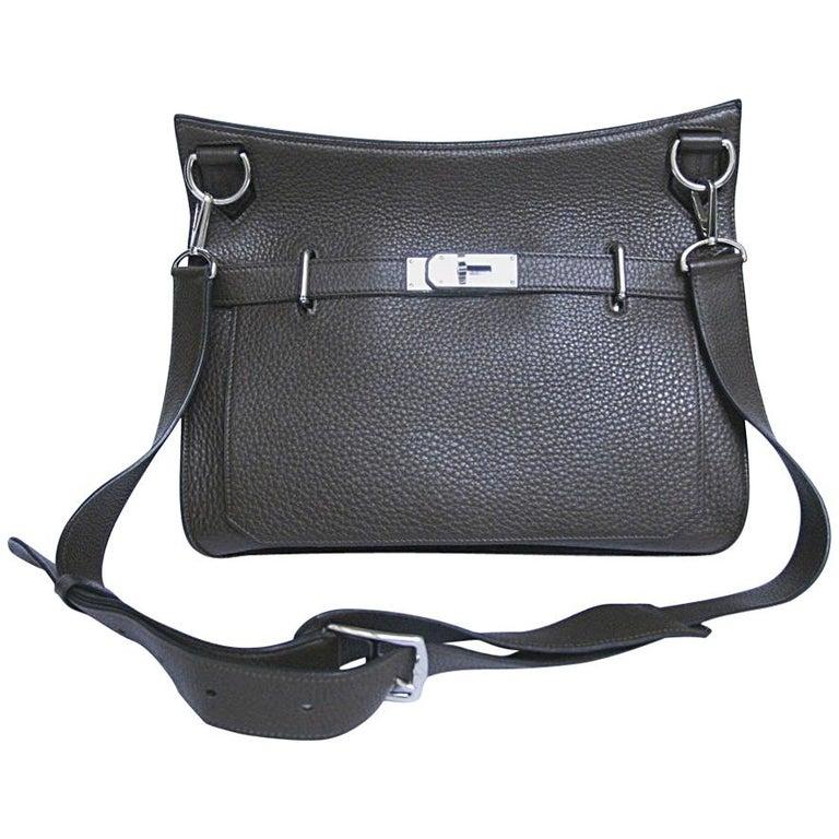 5a00d7563e HERMES Jypsière Bag in brown Clémence taurillon Leather For Sale. Hermès  shoulder bag Jypsière created by Jean-Paul Gaultier.