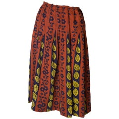 Autumn Print Vintage Skirt