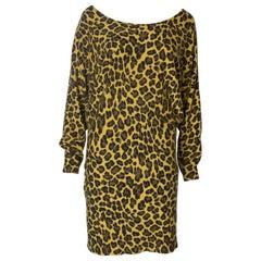 Betsey Johnson Vintage Animal print Sweater dress