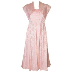 1950s Pink Gown with Matching Bolero