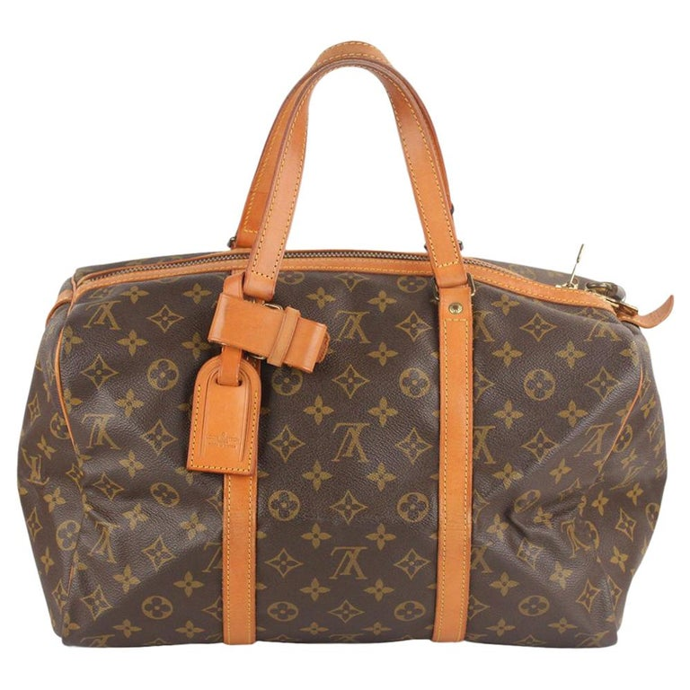 Louis Vuitton Vintage Brown Monogram Canvas Sac Souple 35 Bag