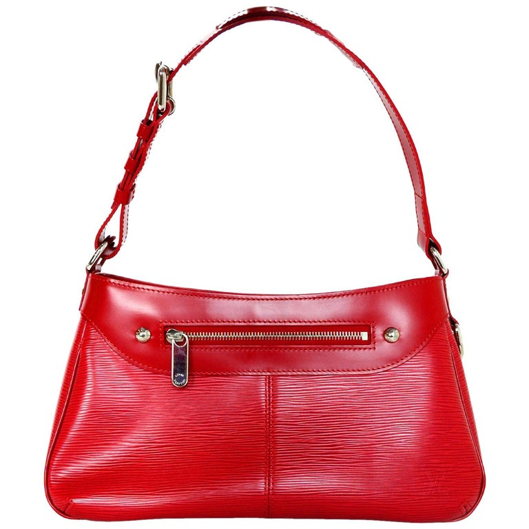 Louis Vuitton Turenne PM NM Red EPI Leather Zipper Front Shoulder Bag
