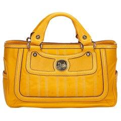 Celine Orange Leather Boogie Bag