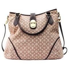 Louis Vuitton Mini Lin Romance Hobo Fusain Shoulder Bag