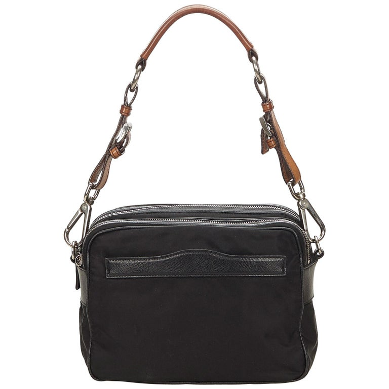 fe08f6a4109a Prada Black Nylon Shoulder Bag For Sale at 1stdibs