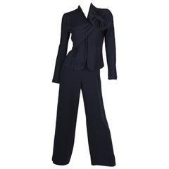 Giorgio Armani 2-pcs Suit Top & Pants - dark blue