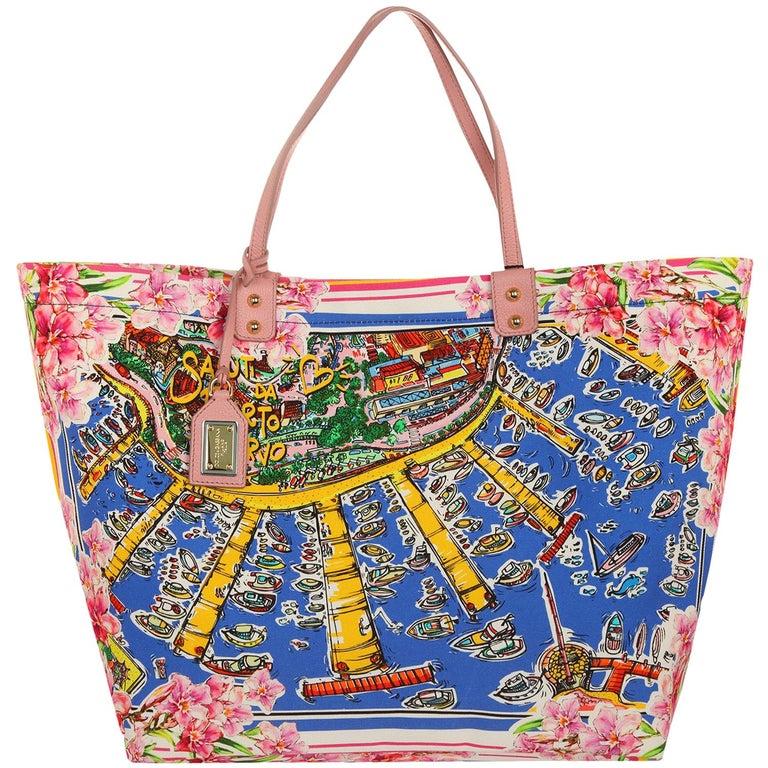 Dolce & Gabbana  Shopper Canvas St. Porto Cervo  BB6191-B9F61