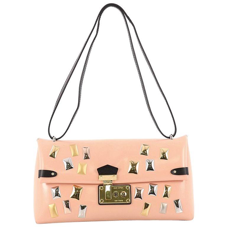 c46515980832 Louis Vuitton Sac Triangle Handbag Embellished Glazed Calfskin PM For Sale