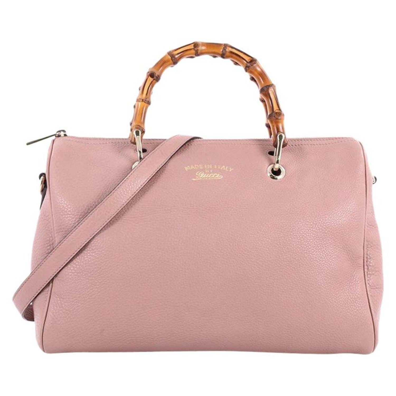 f31875b35d2 Gucci Bamboo Shopper Boston Bag Leather Medium at 1stdibs