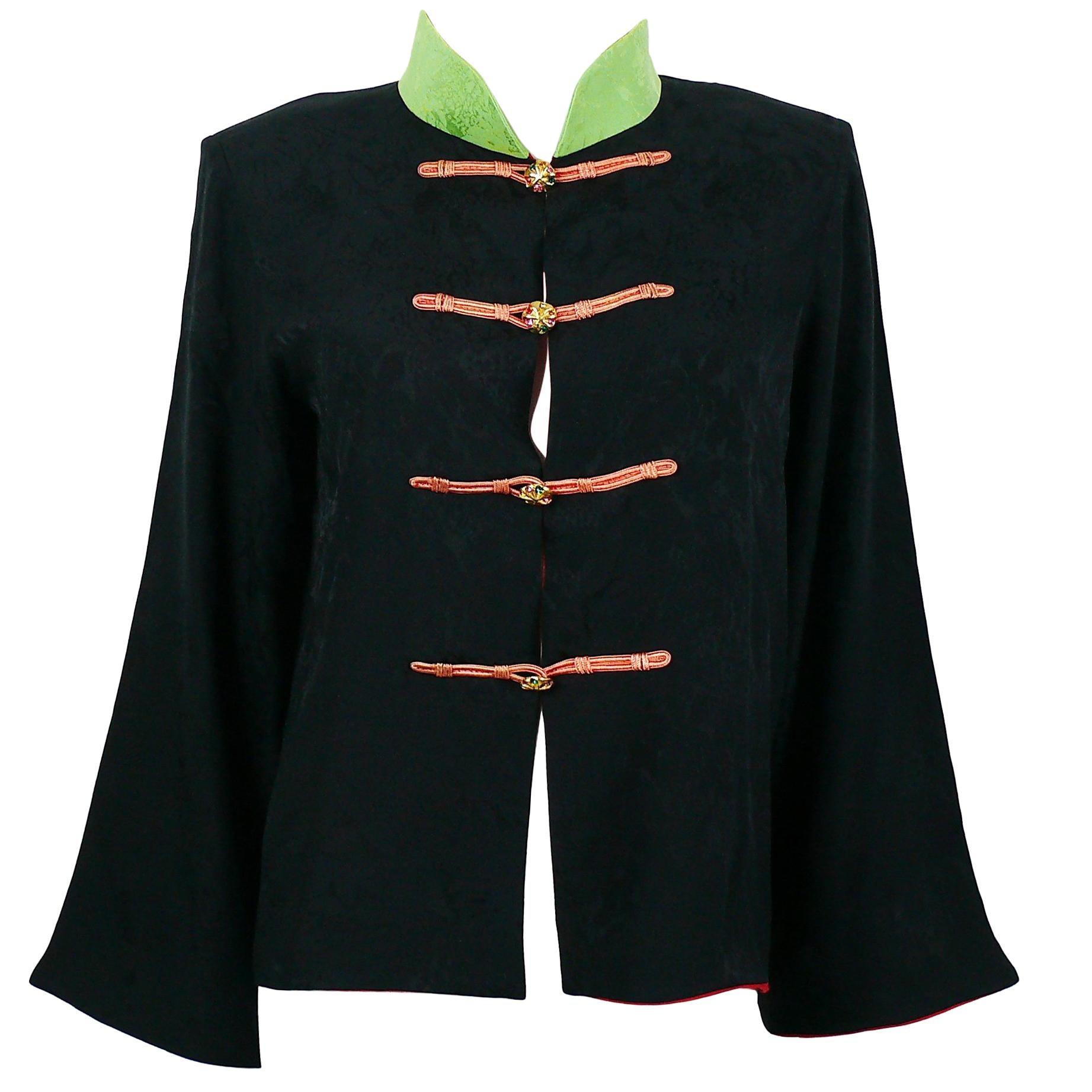 Yves Saint Laurent YSL Vintage Chinese Oriental Inspired Shirt Jacket