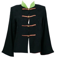 Yves Saint Laurent YSL Vintage Chinese Oriental Inspired Shirt Jacket