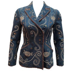 Christian Dior Embroidered Denim Jacket