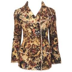 Dolce & Gabbana Baroque Tapestry Floral Print Jacket/ Coat