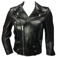 Saint Laurent Cropped Leather Moto Jacket
