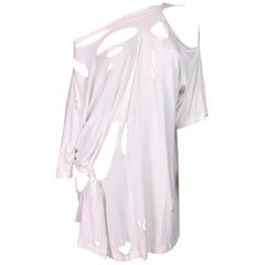 Maison Martin Margiela Runway White Destroyed Shirt Dress, S/S 2009