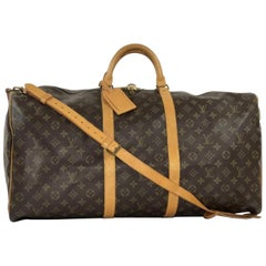 Louis Vuitton Monogram Keepall Bandoliere 60 Travel Bag