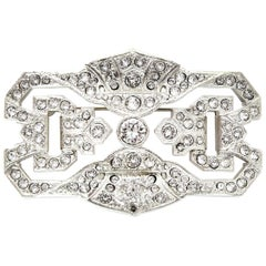 Chanel 2014 Silvertone Strass Crystal Brooch Pin