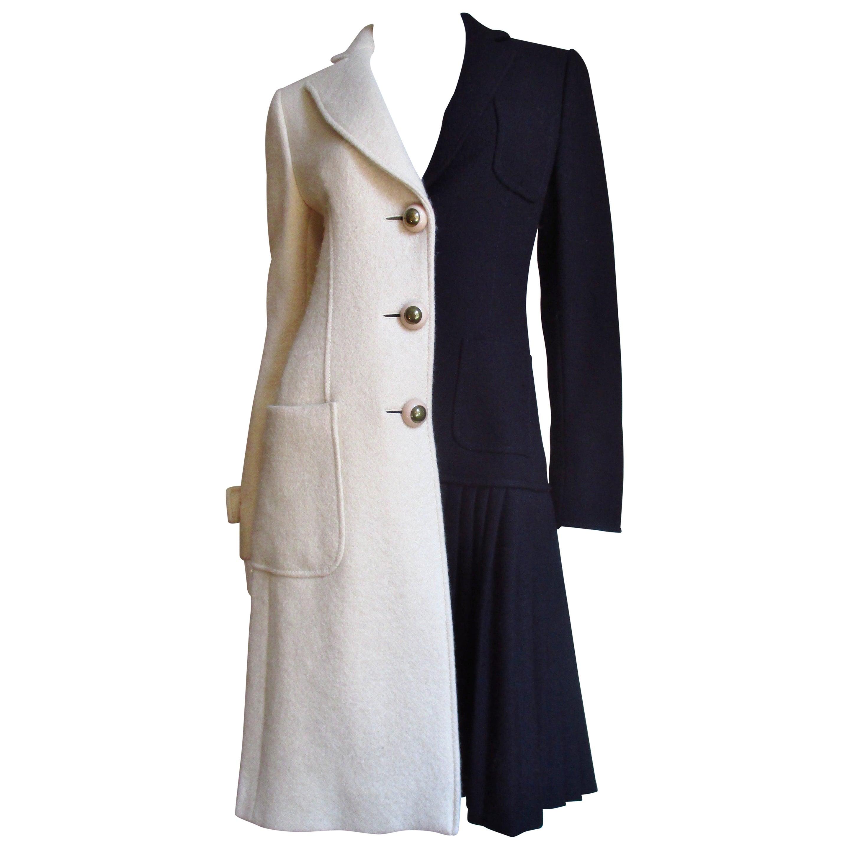 Moschino Color Block Coat