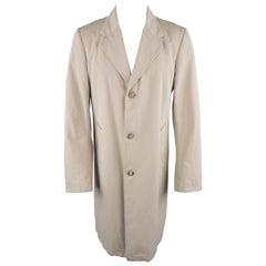 MAISON MARTIN MARGIELA US40 Khaki Cotton Twill Notch Lapel Coat Jacket