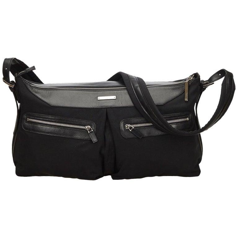 7913ea091e7 Gucci Black Nylon Shoulder Bag at 1stdibs