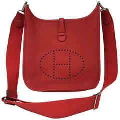 Hermes Evelyne GM Coral/Red Crossbody