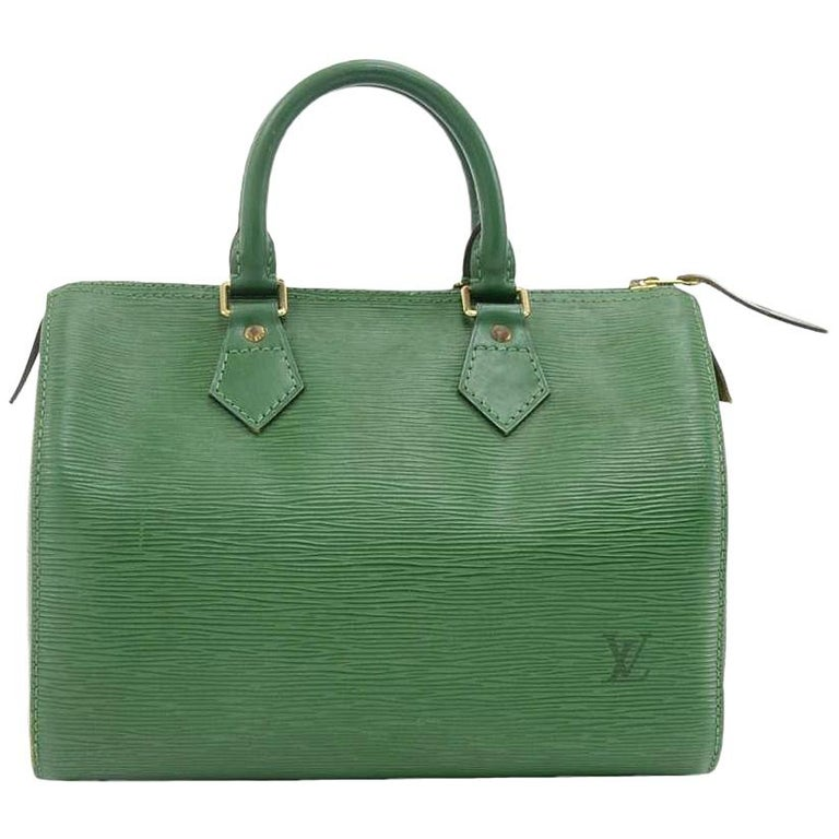 Vintage Louis Vuitton Speedy 25 Green Epi Leather City Hand Bag